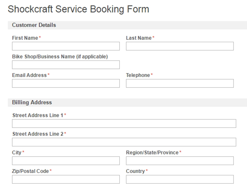 Service Booking Forms