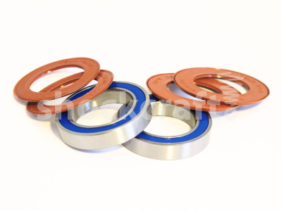 Big Steel External Bottom Bracket Bearing Kit with Silicone Seals (Monocrome)