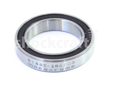 61805-2RS Steel ABEC 5 Caged Bearing (Monocrome)