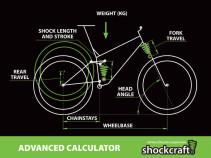 Bike Spring Rate Calculator - Advanced (Shockcraft)