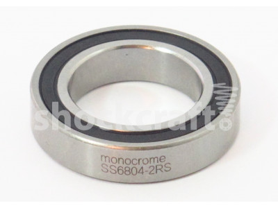 6804-2RS Stainless Steel Caged Bearing (Monocrome)