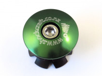 Stem Cap Green with Shockcraft Logo