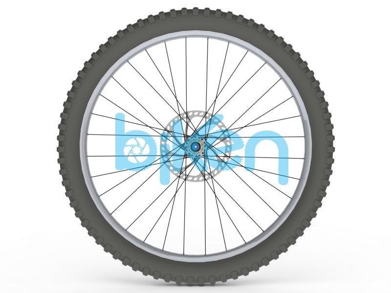 "Rear Wheel CAD Render 32H 27.5x2.6"""