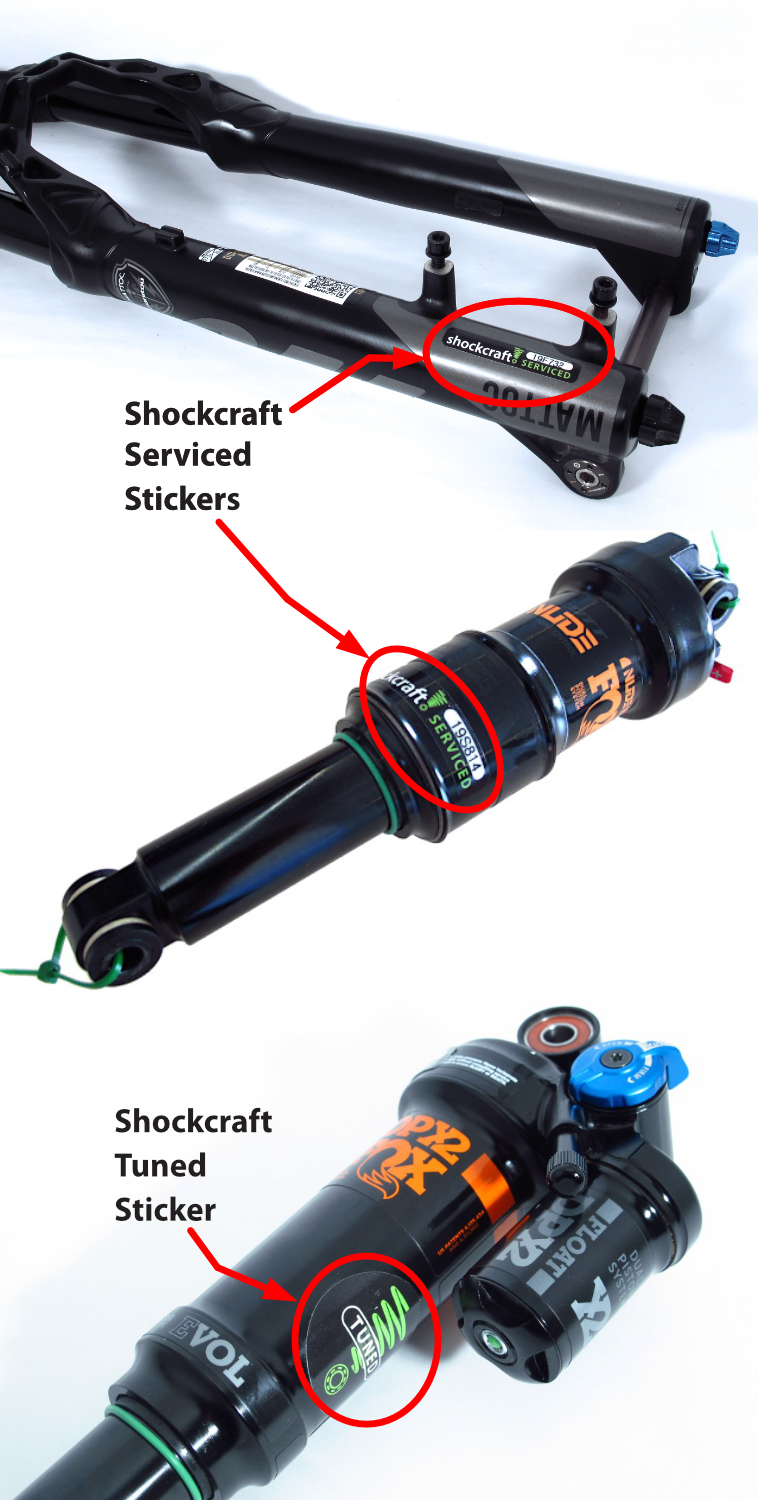 Shockcraft Serviced & Tuned Stickers