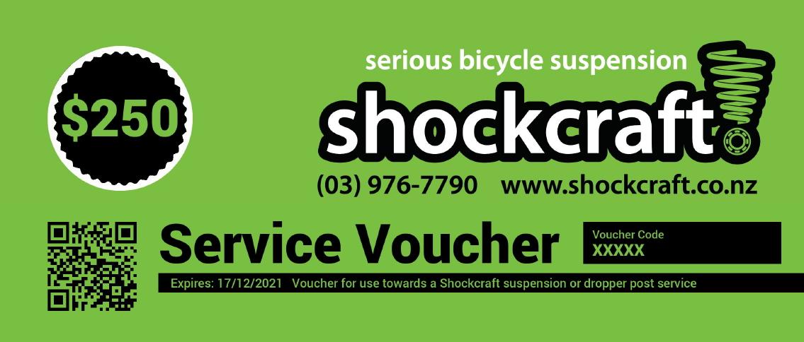 Shockcraft Suspension Service Vouchers
